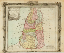 Holy Land Map By Louis Brion de la Tour
