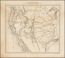 Texas, Plains, Southwest, Rocky Mountains and California Map By Ernst & Korn