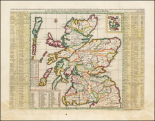 Scotland Map By Henri Chatelain