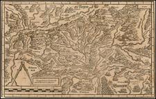 Switzerland and Germany Map By Johann Stumpf