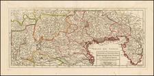 Etat De La Seigneurie et Republique De Venise avec L'Eveche De Trente . . . 1748 By Didier Robert de Vaugondy