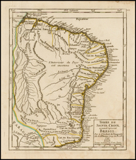 Brazil Map By Didier Robert de Vaugondy