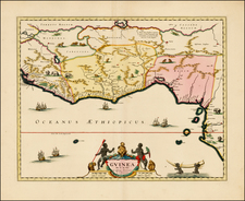 West Africa Map By Johannes Covens  &  Cornelis Mortier
