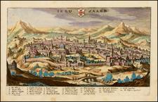 Holy Land Map By Matheus Merian