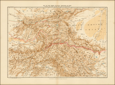 India and Central Asia & Caucasus Map By Edward Stanford