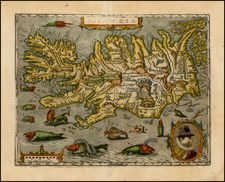 Atlantic Ocean and Iceland Map By Matthias Quad