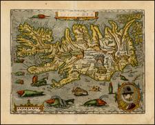 Atlantic Ocean and Iceland Map By Matthias Quad