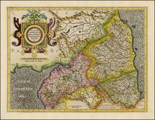 British Isles and Scotland Map By  Gerard Mercator