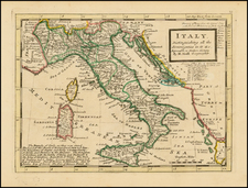 Italy Map By Herman Moll