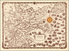 Germany Map By Ernest Dudley Chase