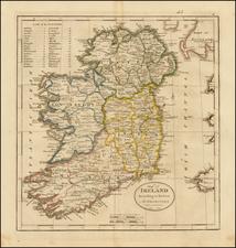 Ireland Map By Mathew Carey
