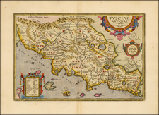 Italy and Northern Italy Map By Abraham Ortelius