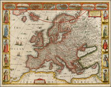 Europe and Europe Map By John Speed