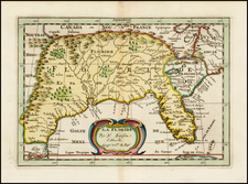 Florida, South and Southeast Map By Nicolas Sanson