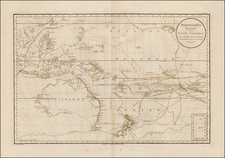 Australia & Oceania, Pacific, Australia, Oceania and New Zealand Map By Daniel Djurberg / Franz Anton Schraembl