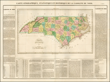 North Carolina Map By Jean Alexandre Buchon