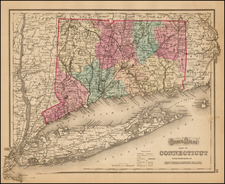 New England and Connecticut Map By O.W. Gray
