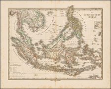 Southeast Asia and Philippines Map By Adolf Stieler