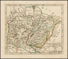 South America and Paraguay & Bolivia Map By Didier Robert de Vaugondy