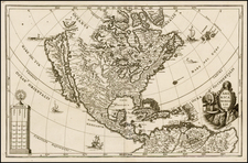 North America and California Map By Heinrich Scherer