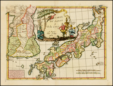 Japan and Korea Map By Jean-Baptiste Crepy