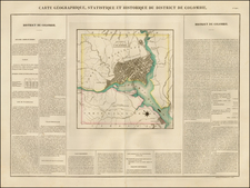 Washington, D.C. Map By Jean Alexandre Buchon
