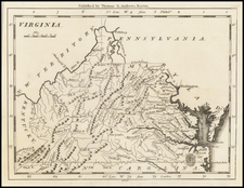 Southeast and Virginia Map By Jedidiah Morse