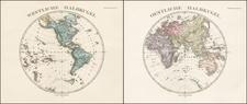 World and World Map By Adolf Stieler