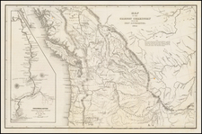 Rocky Mountains, Idaho, Montana, Pacific Northwest, Oregon, Washington, Canada and California Map By Charles Wilkes