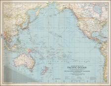 Pacific Map By National Geographic Society