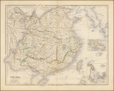 China and Korea Map By Archibald Fullarton & Co.