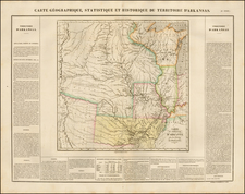 Texas, Midwest, Plains, Missouri, Southwest and Rocky Mountains Map By Jean Alexandre Buchon