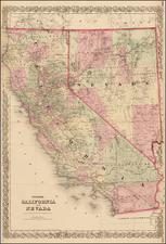 California Map By G.W.  & C.B. Colton