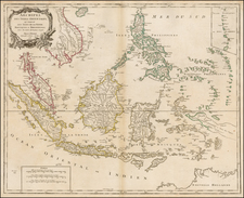 Southeast Asia, Philippines and Australia Map By Didier Robert de Vaugondy