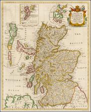 Scotland Map By Paul de Rapin de Thoyras / Nicholas Tindal