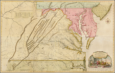 Mid-Atlantic, Maryland and Southeast Map By Joshua Fry  &  Peter Jefferson