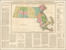 Massachusetts Map By Jean Alexandre Buchon