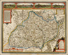 Czech Republic & Slovakia Map By Claes Janszoon Visscher