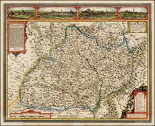 Czech Republic & Slovakia Map By Claes Janszoon Visscher