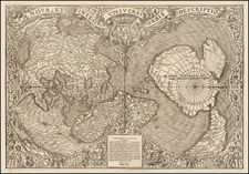 World and World Map By Oronce Fine