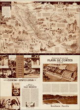 Mexico and Pictorial Maps Map By Charles H. Owens