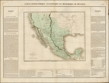 Texas, Southwest, Rocky Mountains and California Map By Jean Alexandre Buchon