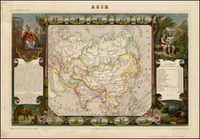 Asia Map By Victor Levasseur
