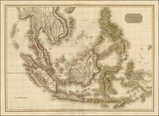 India, Southeast Asia, Philippines, Australia & Oceania and Other Pacific Islands Map By John Pinkerton