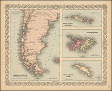 South America Map By G.W.  & C.B. Colton
