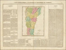 New England and Vermont Map By Jean Alexandre Buchon