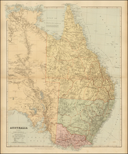Australia Map By Edward Stanford