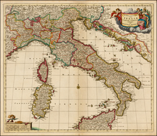 Italy Map By Theodorus I Danckerts