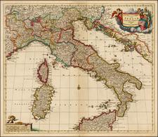 Italy Map By Theodorus I Danckerts