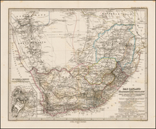 South Africa Map By Adolf Stieler